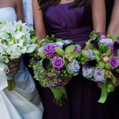 Bridal Bouquet and Attendent Bouquets