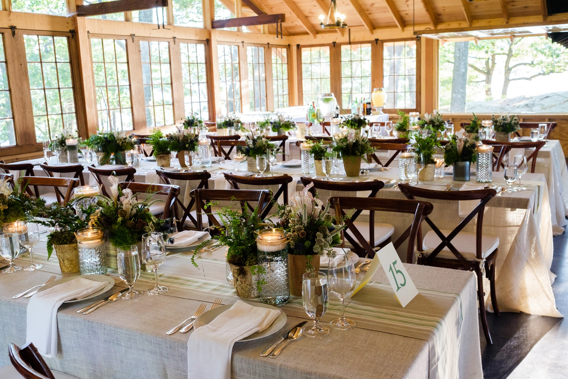 Elegant Effects in Floral Design - Barn Wedding Reception
